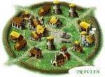 Деревня в онлайн-игре Травиан