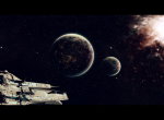 Две планеты и космический корабль
