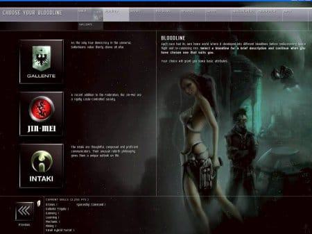 EvE online — создание персонажа
