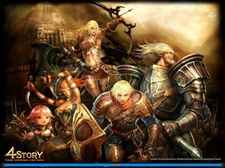 Герои в онлайн-игре 4Story