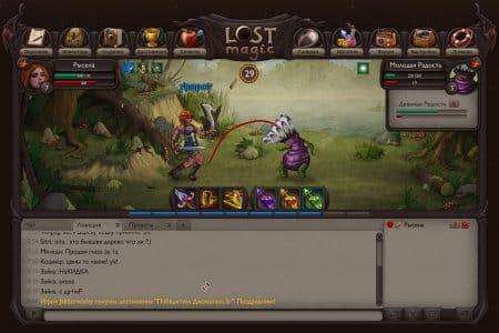 Lost magic — статус и инвентарь персонажа