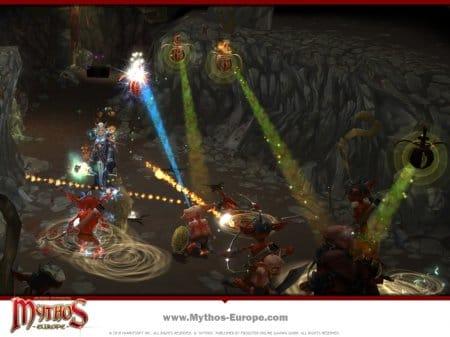 Бой в подземельях онлайн-игры Mythos