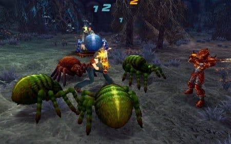 Битва с пауками в онлайн игре Royal Quest