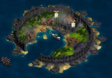 Гавань на острове в Seafight