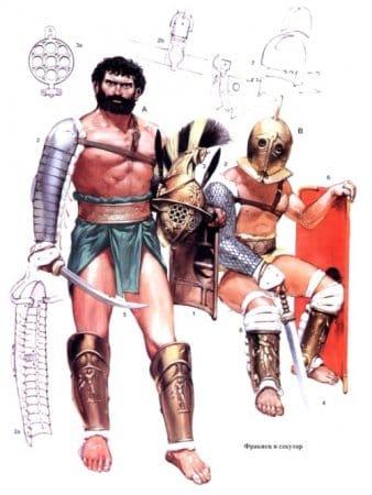 Гладиаторы: фракиец и секутор