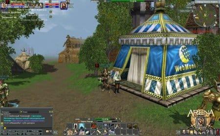 Большие шатры, величественные замки и красивая средневековая природа — все это игра Арена Онлайн