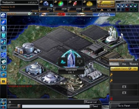 Онлайн игра BattleSpace: исследование планеты и строительные работы