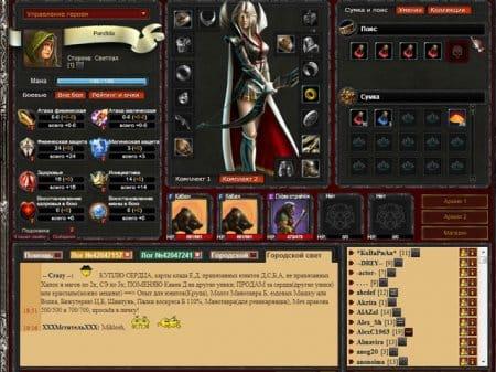Управление персонажем в онлайн-игре OneWorld