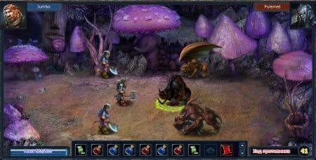 Играть онлайн в OneWorld можно и в подземельях, и среди фиолетовых грибов, и еще Бог весть где
