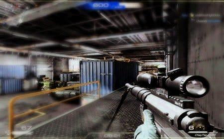 Игрок, вооруженный снайперской винтовкой