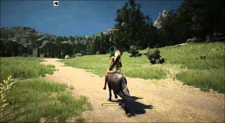 Атаковать можно прямо с лошади