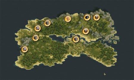 Каждая зона богата ресурсами
