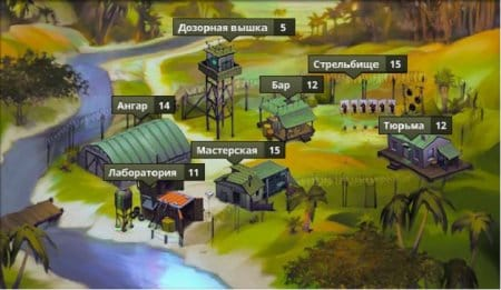 Постройки на территории военного лагеря
