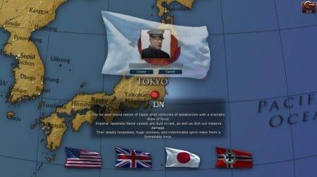 Первый шаг в игре NavyField 2  - выбор страны