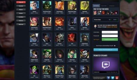 Некоторые из доступных героев