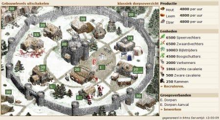 Изображение деревни в зимнее время.