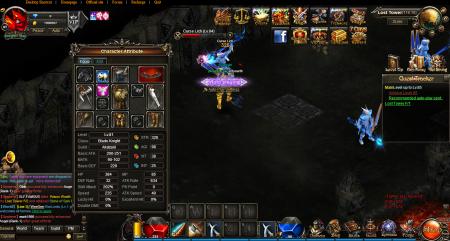 Игровые параметры игрока и его экипировка.