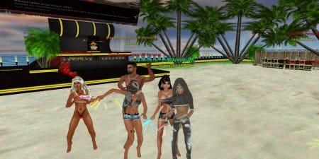 Танцы на пляже.