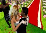 Поцелуй жениха и невесты.