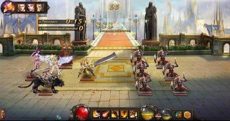 Сражение отряда игрока с врагами